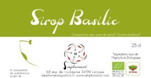 Sirop basilic 2019