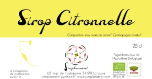 Sirop citronnelle 2019