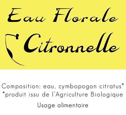Eau florale citronnelle 2019