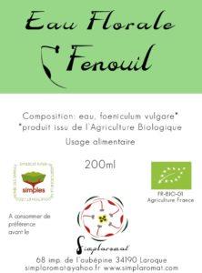 Eau florale fenouil 2019