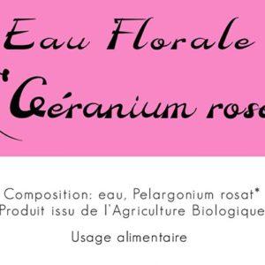 Eau florale Géranium 2019