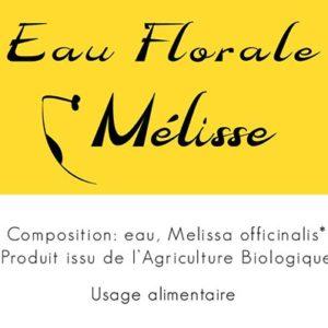Eau florale Melisse 2019